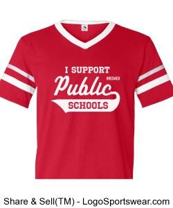 Red4Ed I Support Public Schools Tee - Adult (Runs Small) Design Zoom