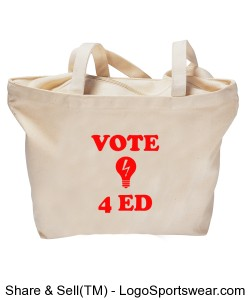 Vote4Ed/Red4Ed Tote (Front/Back) Design Zoom