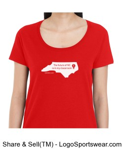 Women's Scoop Neck Future of NC T-Shirt Design Zoom
