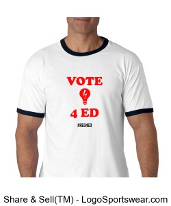 Vote 4 Ed Ringer (#Red4Ed) Design Zoom