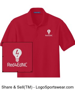 Red4EdNC Adult Polo (Short-sleeve) Design Zoom
